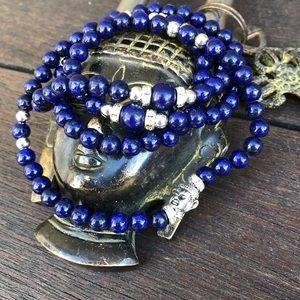 Jewelry - ✨LAPIS LAZULI MALA NECKLACE/WRAP BRACELET 6mm✨